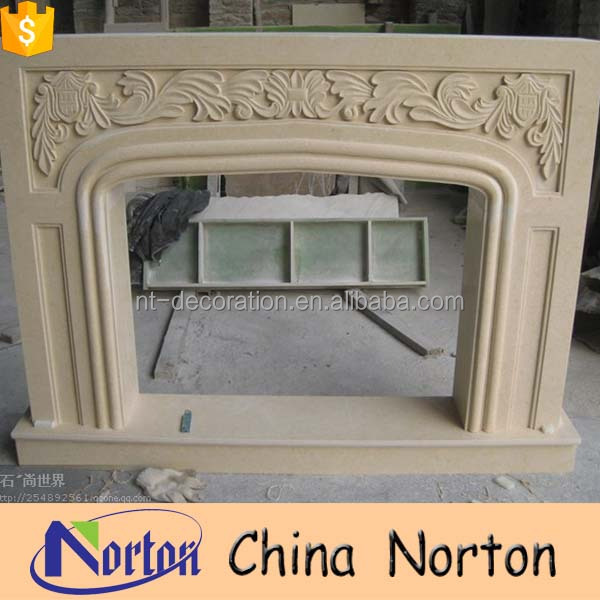 Carving beige electric carrara fireplace outdoor NTMF-F007Y