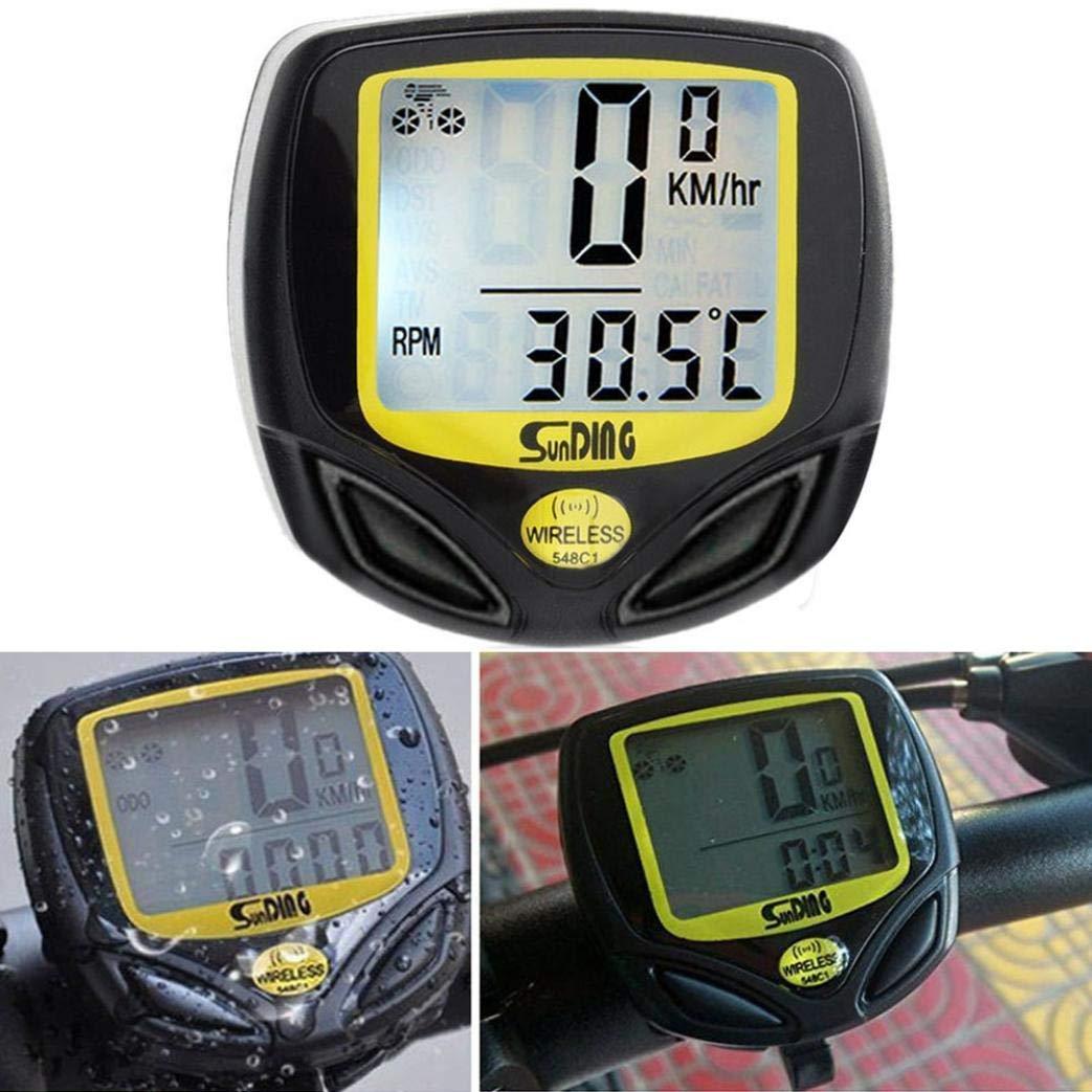 LOT Bicycle Speedometer Odometer Wireless Waterproof Bike Computer LCD Display @