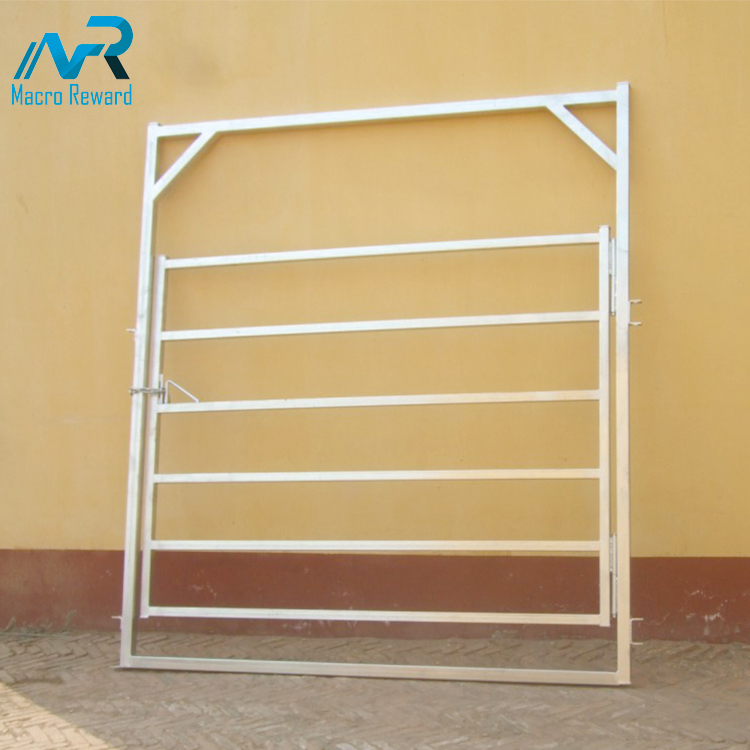 Custom size livestock metal steel fencing panels square cattle panel for sale