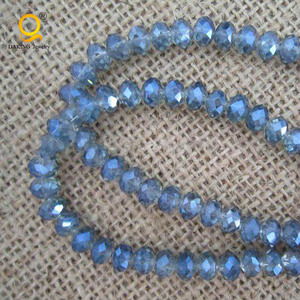 rainbow blue crystal, faceted crystal beads, glass beads