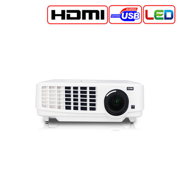 3LCD LED Home Interactive Projector with Low Noise Short Throw Ratio Video Projector Connect Mobile Phone