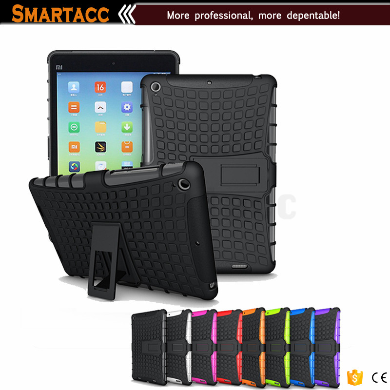 For Mi Pad Case With Stand, Plastic and Silcion Hybrid Shockproof Case For Mi Pad