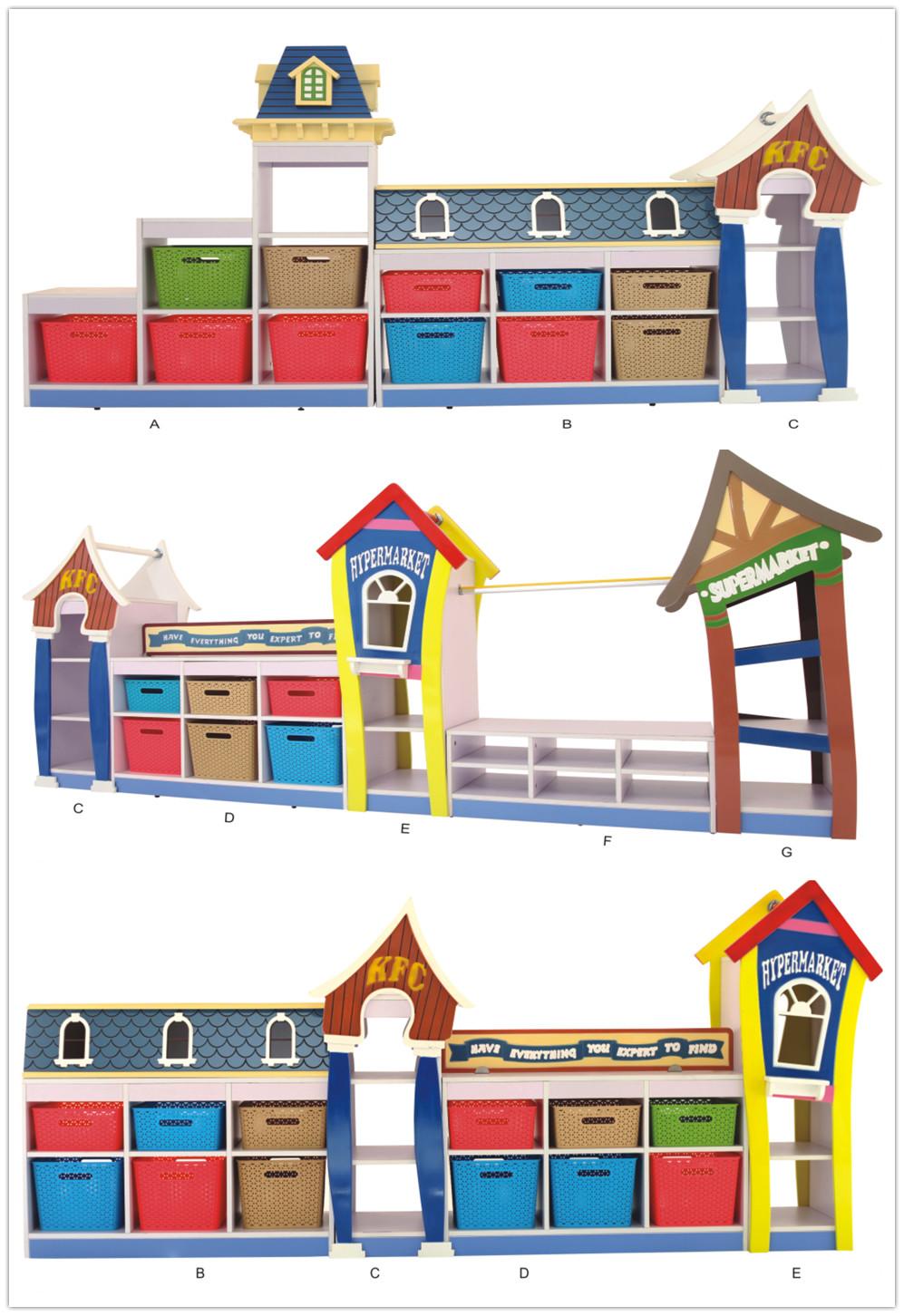 Hot Sale Kindergarten Furniture Classroom Cabinet Set