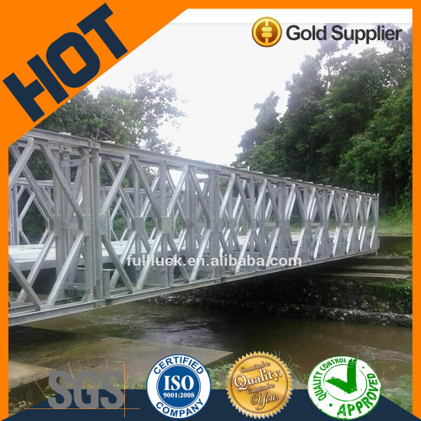 Double lanes steel structures used bailey bridge for sale