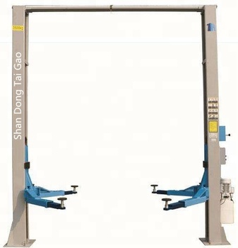 Cheap price clear floor two post car lift