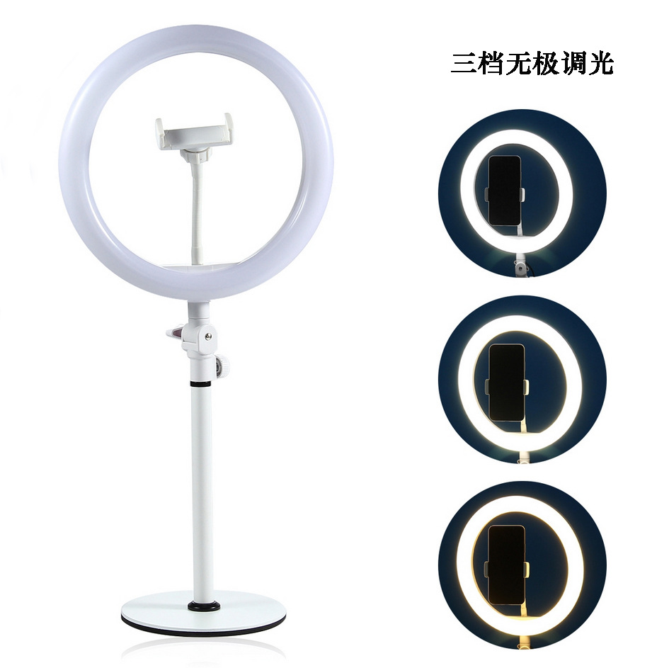Rundour 10inch beauty make up photography mobile selfie led ring light with tripod stand TZ-10