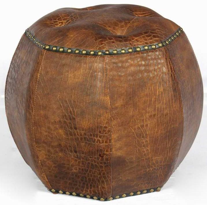 708 de estilo tradicional Sala pasaje octagonal pequeño otomano con ...
