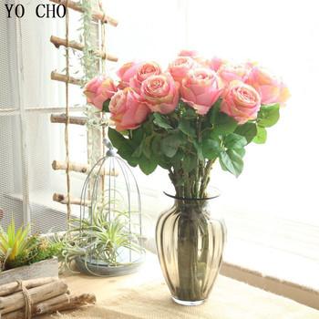 yo cho mariage valentine decoration fabric silk artificial roses
