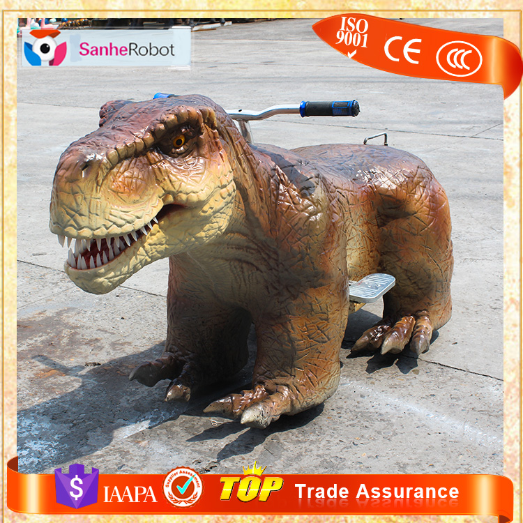 Children love animals walking ride a operated animatronic movable t-rex coin rides