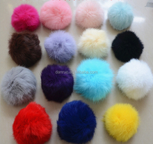 Real Colorful Rex Rabbit Fur Pom Poms /Genuine Fur Rex Rabbit Fur Balls/ Rabbit Fur Pompons