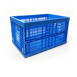 Factory supply solid style recyclable durable plastic folding crate for clothes fruit vegetable sundries