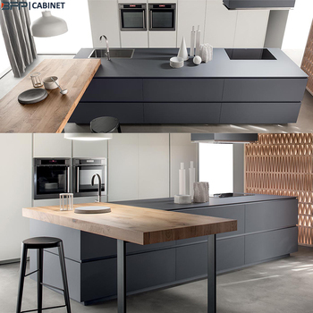 Matt Finish Lacquer Plywood Carcass Luxury Kitchen Cabinet ...