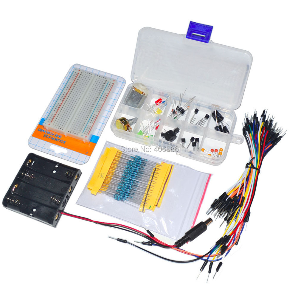 Cheap Resistor Arduino Find Deals On Line At Electronic Project Starter Kit B Breadboard Capacitor Led Get Quotations 2sets Lot Universal Parts Cable Potentiometer Capacitance For Uno