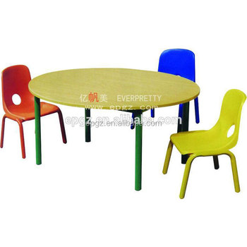 Daycare Round Wood Chair And Desk,argos Kids Learning Table Furniture