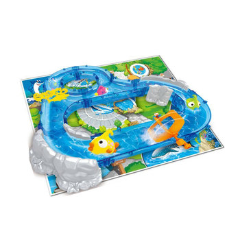New kids bath toys water fishing game track toy set
