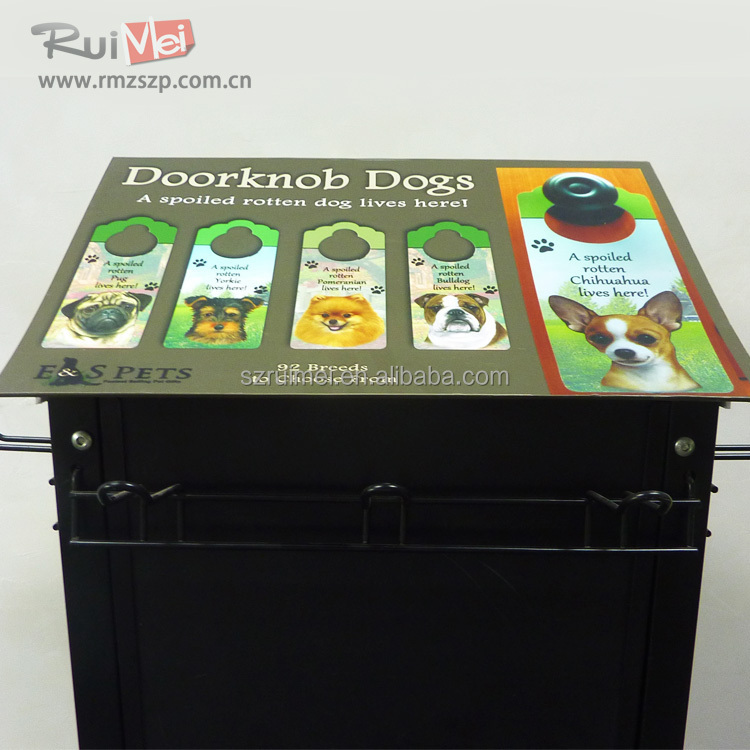 Supermarkt metalen hond voedsel display plat/pet food display plat