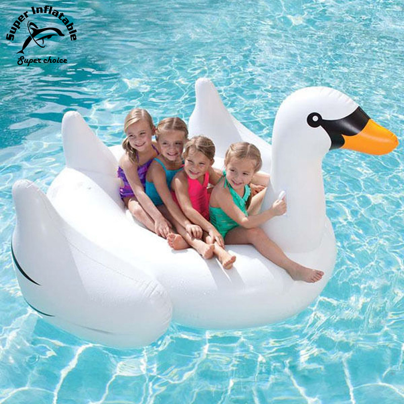 Hot sale plastic Giant inflatable pool float Swan for sale