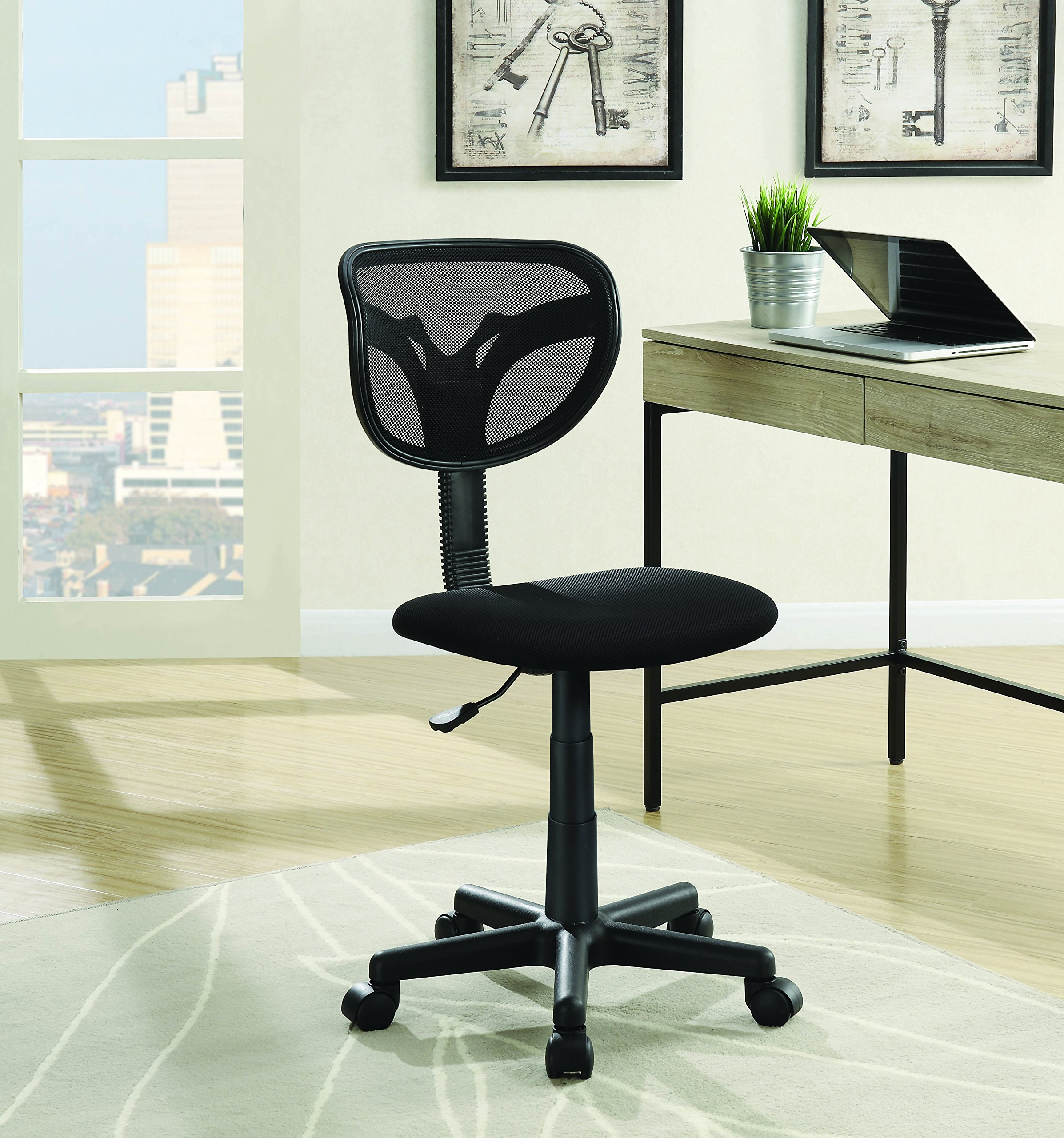 Coaster Casual Mesh Adjustable Height Office Chair, Black