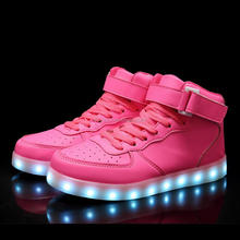 Top supplier hot sell led light running shoes with color changing upper
