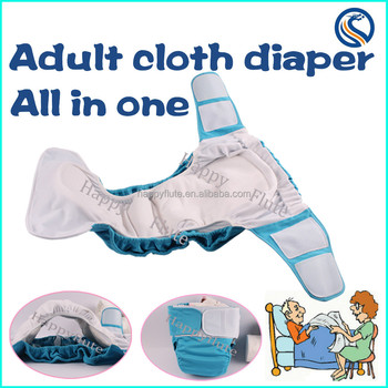 Happyflute Breathable Washable Reusable Adult Cloth Diaper ...