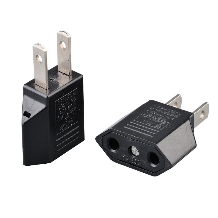ABD Plug AB 2 Yuvarlak Pin Soket Girişi AC 0 V ~ 250 V 5A priz elektrik ac fiş adaptörü