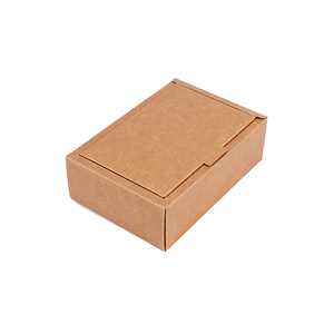 Custom logo printing different size brown corrugated paper postal shipping box