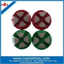 Metal Bond 4 Segments 3 Inch 80mm Diamond Grinding Disc for Concrete Floor Finishing