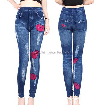 81924185d8ddd new arrivals women jeggings seamless denim jean leggings wholesale