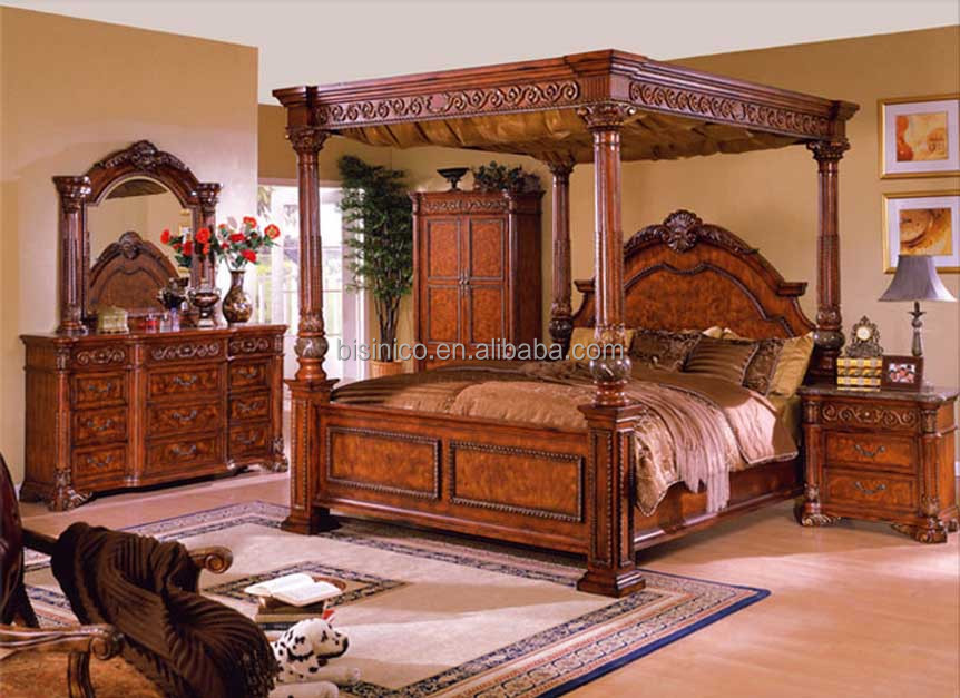 Bisini Luxury Furniture, Antique Bedroom Furniture King Size Double Bed  Frame Design, Wooden Bed Room Furniture Set, View bed room furniture,  BISINI ...