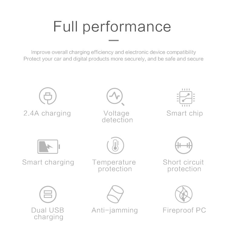 Universel Téléphone Portable Électrique Intelligent De Batterie Rapide Chargeur De Voiture USB - ANKUX Tech Co., Ltd