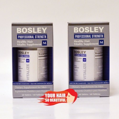 Bosley Healthy Hair Vitality Supplement for Men 60 Piece Tablets, 2 Count