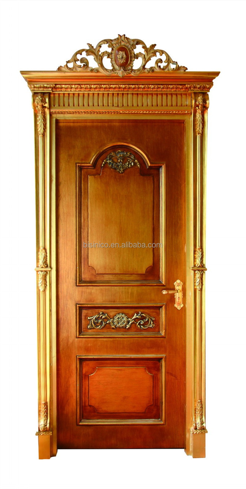 Antique interior doors with glass - French Baroque Style Solid Wood Hand Carved Interior Door High Quality Antique Finish Beige Decorative