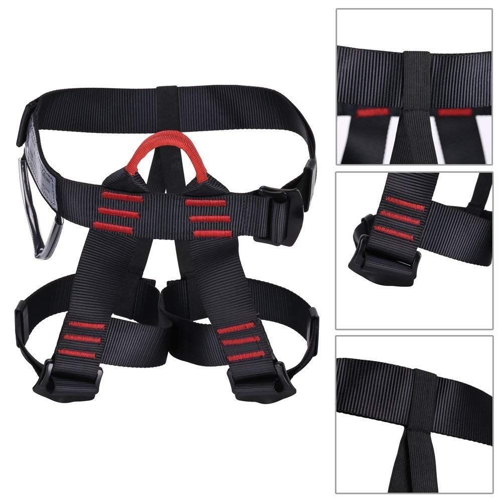 CN/_ Outdoor Half Body Safety Harness Sit deluxe Sleeve Climbing Rappelling
