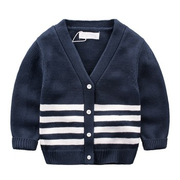 Wholesale Fashion Cotton Cardigan Baby Boy Sweater Knitting Pattern