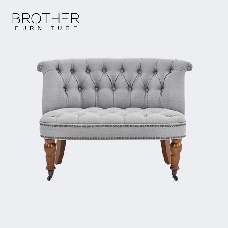 Großhandel Moderne Stil Grau Stoff Wohnzimmer Akzent Stuhl