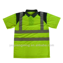 high visibility polo shirt reflective safety t shirt