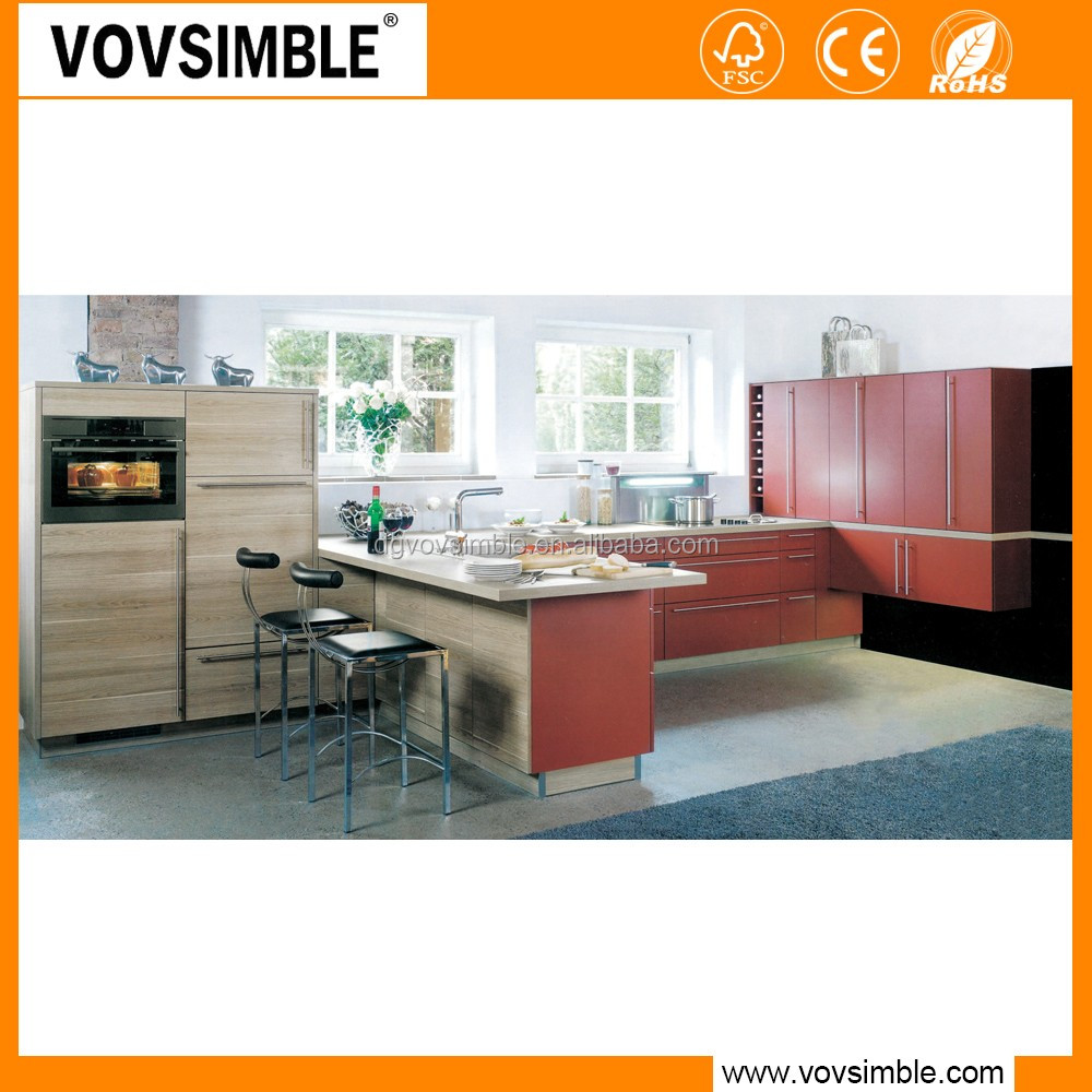 Vovsimble china factory wholesale cheap solid wood kitchen for Cheap kitchen cabinets from china