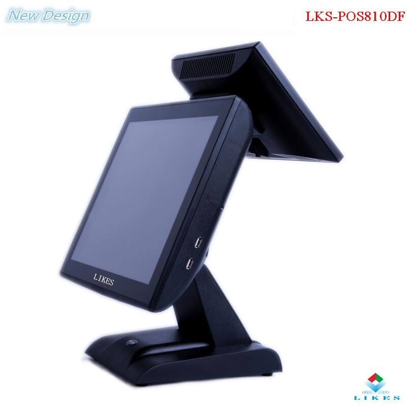 "15"" flat touch pad pos system with 58mm printer thermal driver"