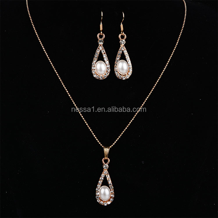 New Arrival Latest Design Saudi Gold Jewelry Necklace LYU-0088