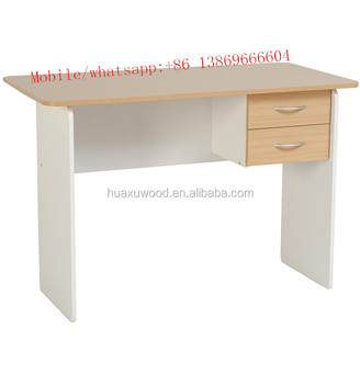 2 Drawer Study Desk in Beech and White/office desks