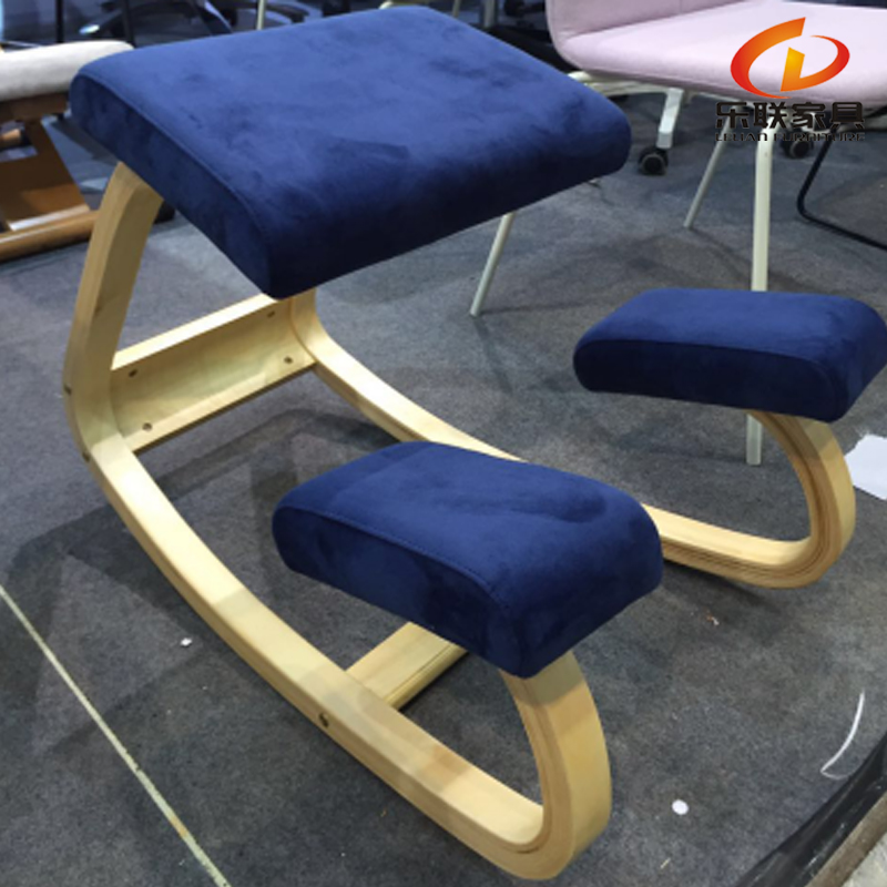 Current work style ergonomic wooden kneeling health knee chair for office