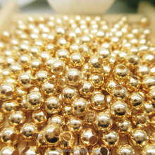 Wholesale jewelry accessories 2-8mm 24K gold filled beads round beads