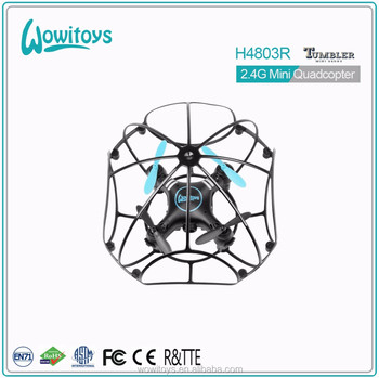 2.4G Mini drone and drone with cage and anti-crash mini pocket drone