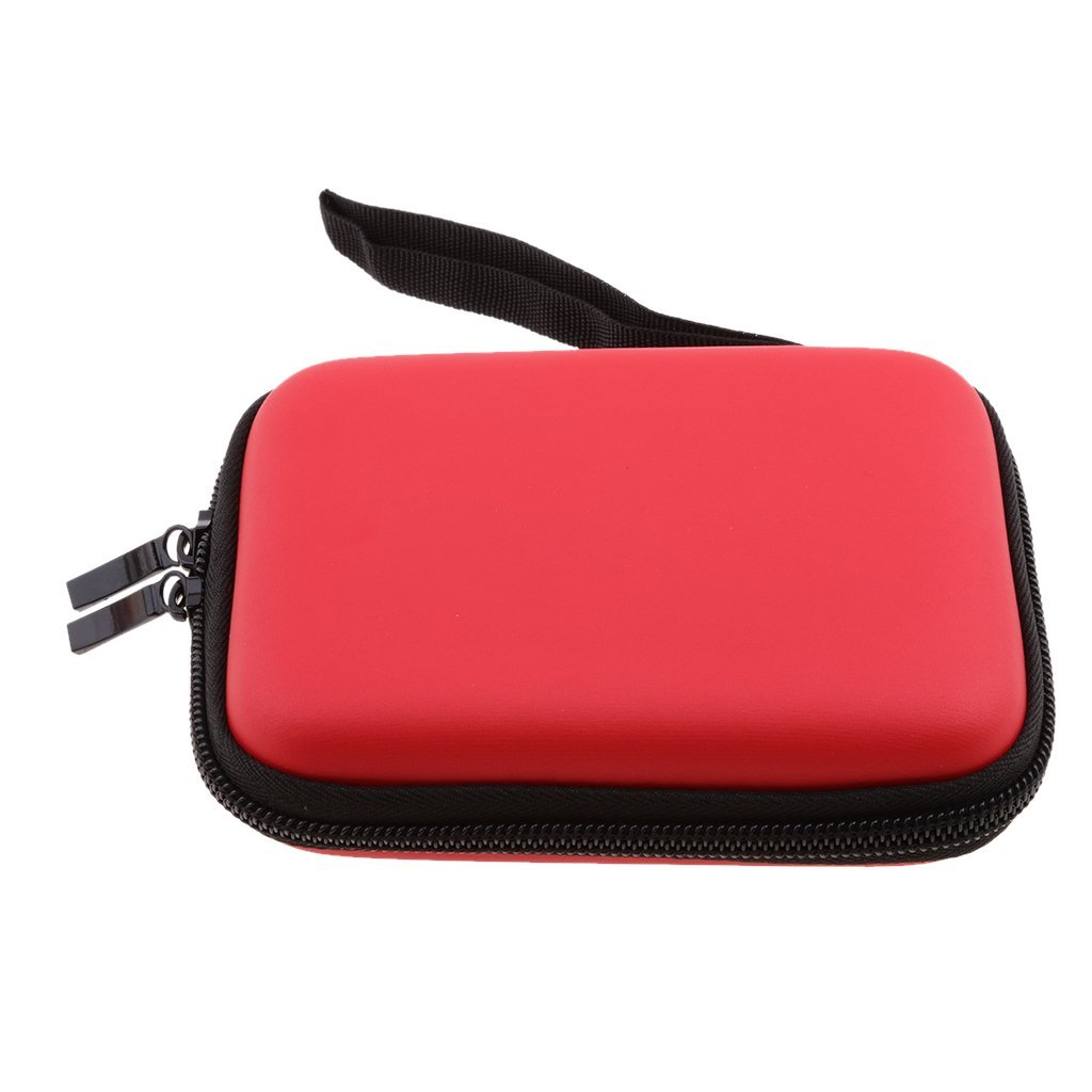 Dovewill 2.5 inch Portable Universal Multi-functional Digital Storage Bag Electronic Accessories Cable Organizer Bag Carrying Case Organiser bag Red