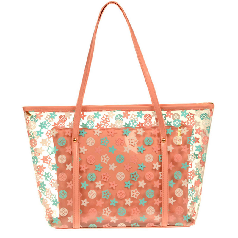 Vinyl Polka Dot <strong>Tote</strong> wholesale zipper nylon beach bags and <strong>totes</strong>
