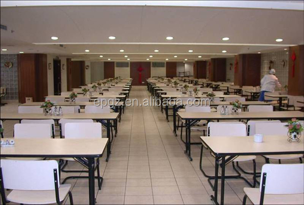 8 People Used Industrial Cafeteria Folding Table And