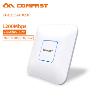 300Mbps Ceiling mount POE AP Atheros AR9341 + PA SE2576 x 2 Wireless Access  Point / Repeater Router - White