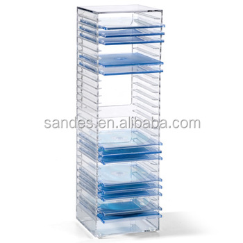 Attirant Clear Desktop Acrylic Vertical CD Storage Holder Rack