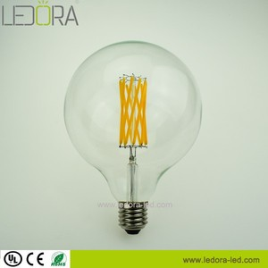 3W 5W 7W big round glass E27 dimmable globe led light bulb G125 sylvania led bulbs