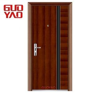 Heat transfer painting Exterior Security Steel wrought iron 30 x 78 exterior steel door